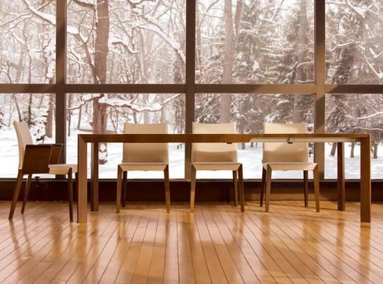 カンディハウス ムーブ伸長式ダイニングテーブル