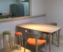 日進木工 チェア SOFとコティのテーブル。そしてマッシュルームチェア