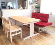 ヒノキクラフト テーブル&チェアとカンディハウス アルプ