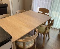 カンディハウス マムEXテーブル、チェア ルントオムアップライトチェア