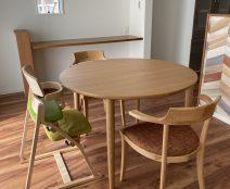 カンディハウス マム伸長式テーブル、チェア コネリア。アップライトチェア