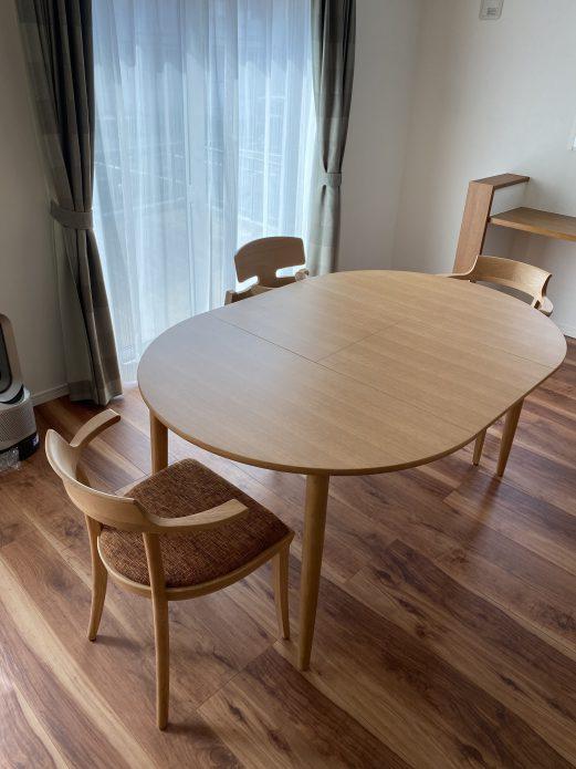 カンディハウス マム伸長式テーブル、チェア コネリア